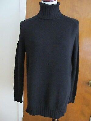 Aqua Women's Black Cashmere Turtleneck Detailed Sweater Size Xsmall Small  (Detailed Turtleneck)