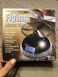 Tech Tools Black Digital Flying Alarm Clock