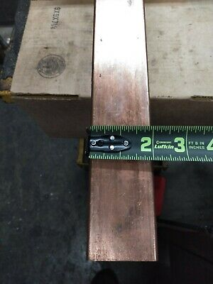 Copper Bar Stock 2 Wide 14 Thick 72 Long Radiused Edges