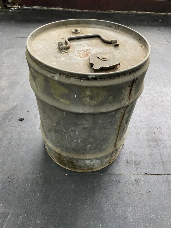 Rare WW2 10 Gallon Military Fuel Drum