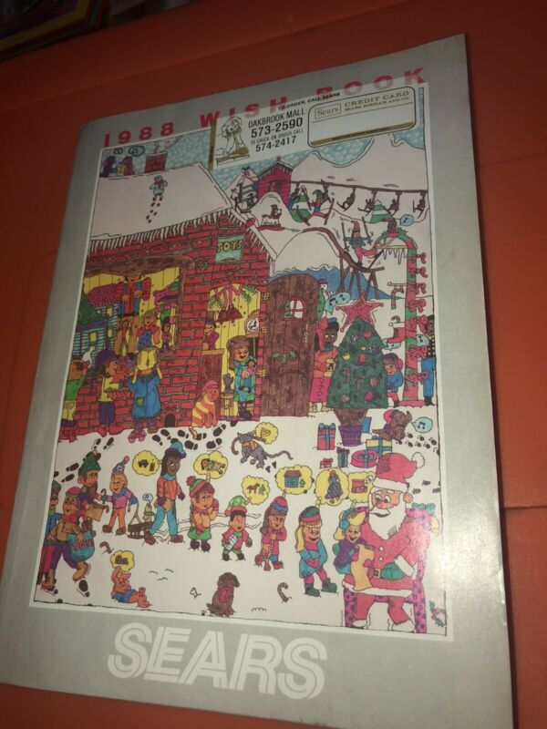 VTG 1988 Sears Christmas Wish Book Catalog Disney Jordan Jammer Blow Mold GI Joe