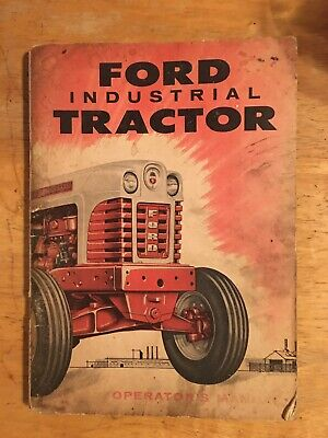 Ford 1801 Industrial Tractor Owners Manual Oem Used Good Condition