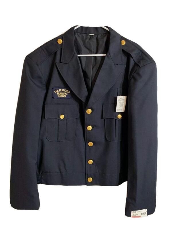 NEW Authentic San Francisco MUNI Municipal Railway Jacket 50L Uniform Wool
