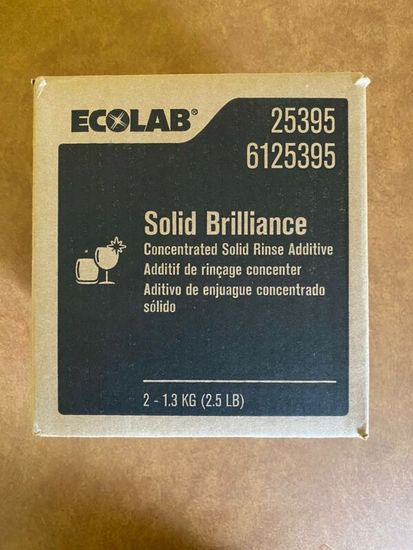 BRAND NEW ECOLAB SOLID BRILLIANCE 2.5LBS RINSE ADDITIVE PRODUCT # 6125395