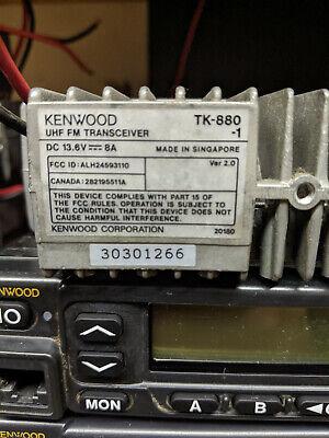 Kenwood Tk-880-1 Uhf Fm Transceiver 450-490 Mhz Mobile Radio