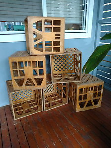 Timber crates stools shelves table chairs indoor outdoor bookcase Coogee Eastern Suburbs Preview