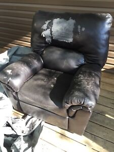 Ripped up recliner