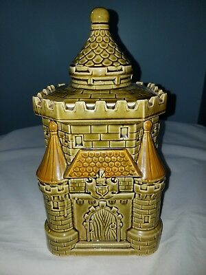 Vtg Royal Sealy Japan Cookie Jar Castle Knights Medieval Detailed