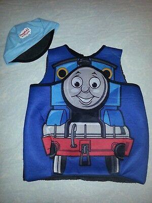 sz 4 - 6 Thomas the Tank Engine Pullover Costume + hat boys halloween](Thomas The Tank Halloween Costume)