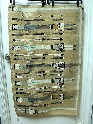 "VINTAGE ""YEI"" FIGURAL DECORATED NAVAJO RUG, SHIPROCK, NEW MEXICO, 32"" x 48"""