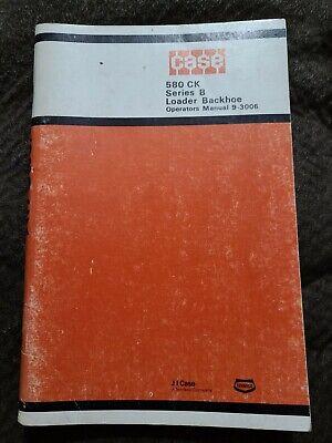 Original J I Case 580 Ck 580ck Loader Backhoe Operators Owners Manual