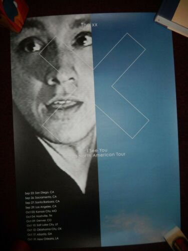 The XX 1/3 I SEE YOU 2017 TOUR POSTER U.S. (OLIVER)
