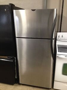 Mint Frigidaire stainless steel fridge