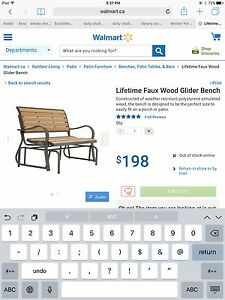 Looking to buy glider 2 seat for outside- similar to picture