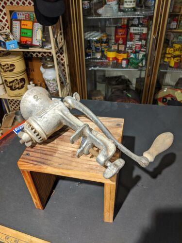 Vintage Original Universal Hand Crank Meat Grinder LF C New Britain Connecticut - $10.80