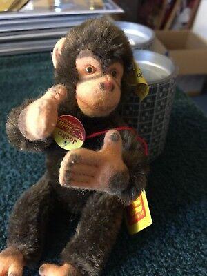 Steiff stuffed animal Jocko the Monkey with tags 0020/16