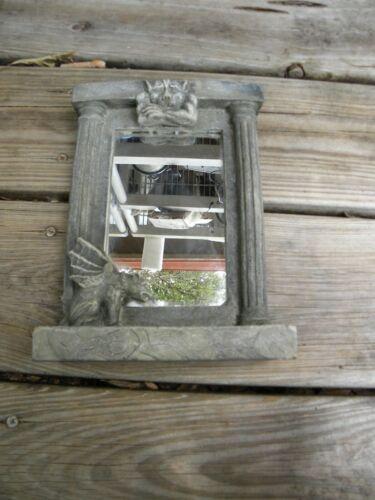 Vintage 1995 Vandor Gargoyle Statue Figurine Mirror Picture Frame Resin Gothic