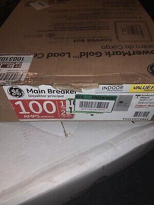 Ge 100 Amp 12-space 22-circuit Main Breaker Indoor Load Center Contractor Kit