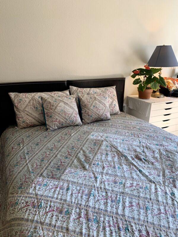 King Antique Silk Handmade Bedspread