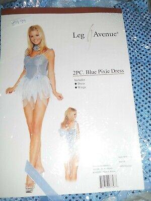 Ladies Blue Pixie fairy dress costume by Leg ave New size Medium  uk 10 - 12