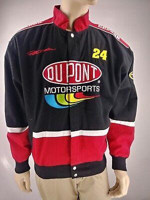Jeff Gordon  24 Mens Du Point Motorsports Lined Denim Baseball Jacket Large