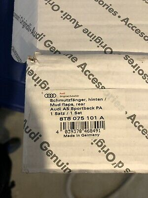 Genuine Audi A5 Set Mud Flaps Rear Sportsback 2012- 8T8075101A
