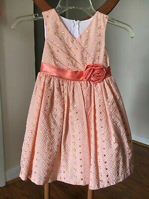 Orange Dresses For Little Girls (New Great For Easter Jessica Ann little girls coral eyelet dress size)
