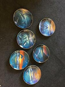 Dolphin Franklin mint set of 6 plates Evandale Norwood Area Preview