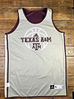 ab5d5ea3a65 Texas A M Adidas Basketball Practice Worn Jersey Team Issued Reversible  XL+2