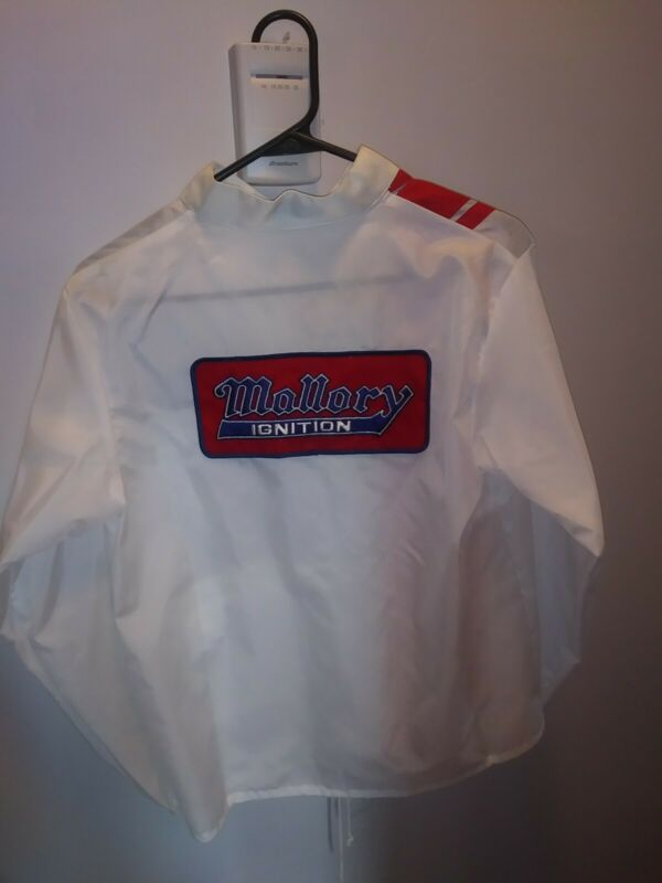 NOS Vintage Mallory Windbreaker Jacket Drag Racing Coat Mallory Ignition Small
