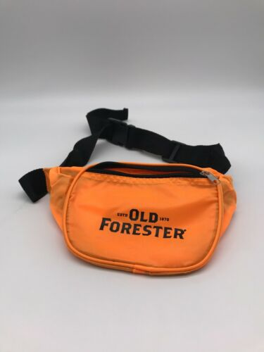 Old Forester Bourbon Orange Fanny Pack Adjustable 2 Zipper Pockets