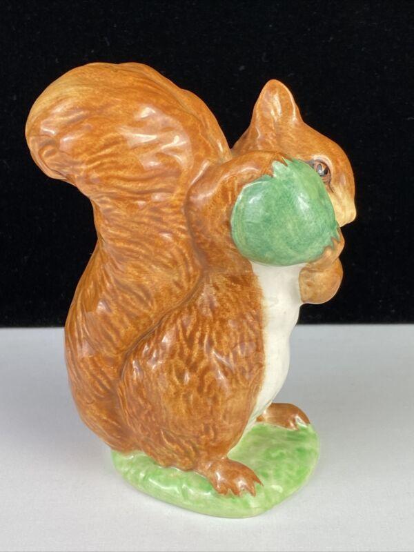 Vintage Porcelain Beatrix Potter Beswick England, Squirrel Nutkin 1948