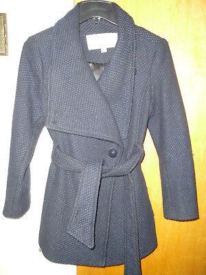 Jessica Petite Coat - Jessica Simpson Women's Coat / Jacket, Small / Petite Dark blue/black