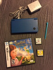 Blue Nintendo DSi with Games