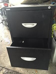 Black 2 drawer filing cabinet Northbridge Willoughby Area Preview