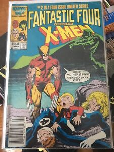 Fantastic Four versus the X-Men #2 of 4 1986 comic