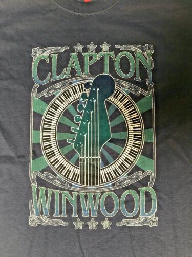 ERIC CLAPTON, STEVE WINWOOD 2009 USA TOUR BLUE T-SHIRT