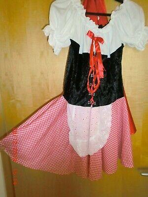Rotkäppchen Faschingskostüm mit rot glänzendem Umhang, Größe - Roter Umhang Kostüme