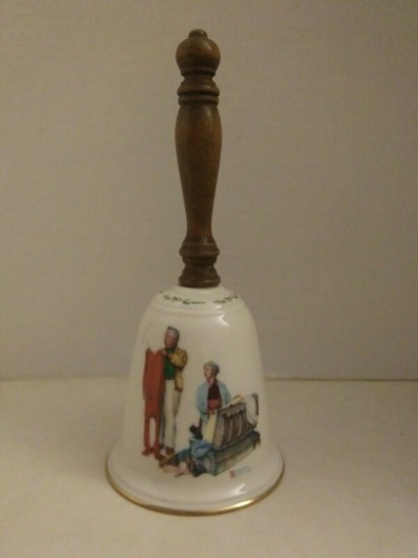 """Vintage 1980 Norman Rockwell """"Chilly Reception"""" Bell. GORHAM Collectibles."""