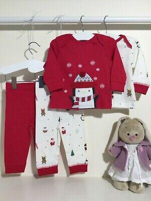 4tlg Schlafanzug Shirt Hose Christmas Weihnachten Gr 62/68 - Weihnachten Anzug