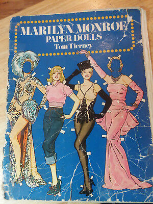 1979 MARILYN MONROE PAPER DOLLS BOOK BY TOM TIERNEY