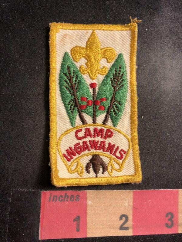 Vtg Circa 1960s CAMP INGAWANIS Boy Scouts Patch 91C3