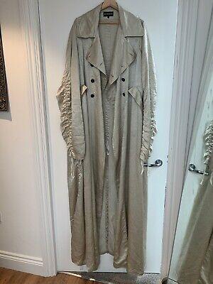 Ann Demeulemeester Floor Length beige trench coat