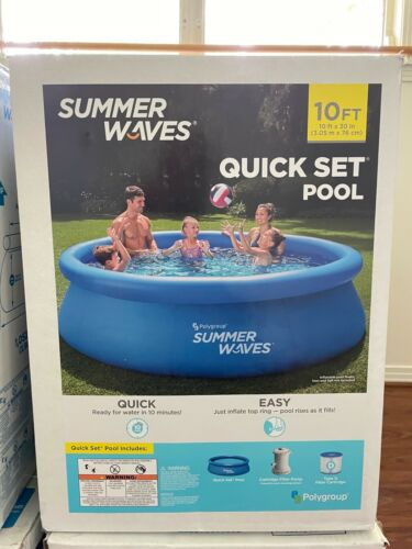 Summer Waves 10ft X 30in Quick Set Ring Pool 600 GPH Filter Pump