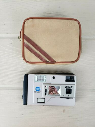 Minolta Disc-7 Camera with Zippered Carrying Case