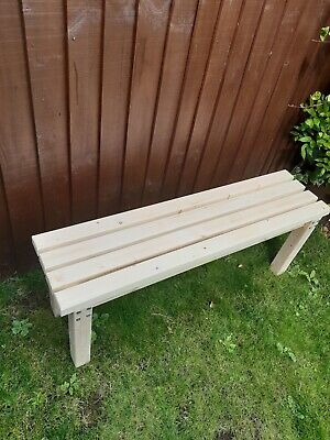 Waxed painted Handmade Wooden Bench outdoor  garden furniture patio SOLID 4ft