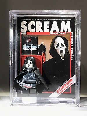 Horror Scream Ghostface Custom Mini Action Figure wCase & Stand 357 - Ghostface Scream