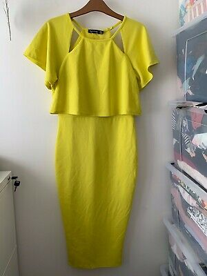 Boohoo Yellow Dress Size 10