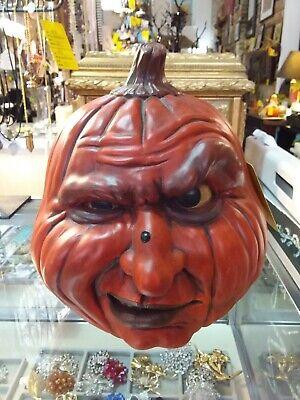Halloween Cast 1988 (Vintage Scioto Mold Halloween Pumpkin Jack O Lantern Wart on Nose)