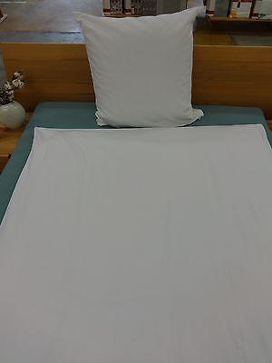 5 Garnituren Hotelbettwäsche 80x80/140x200 weiß.Decorst